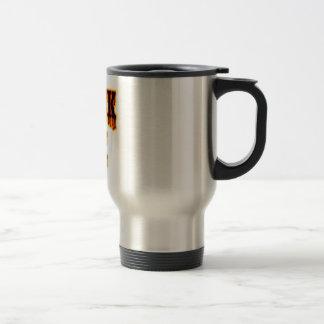 Tinta negra taza de viaje