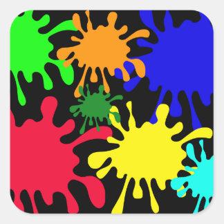 Tinta Splat Pegatina Cuadradas Personalizada