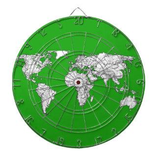 tinta verde clara del mapa del mundo del atlas que