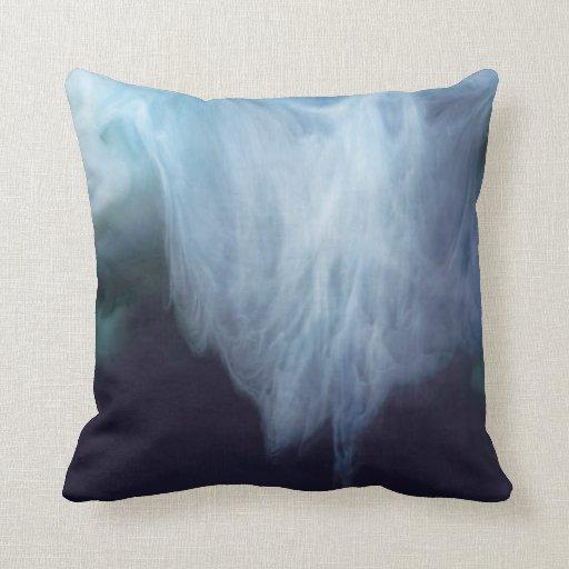 Tinta y agua abstractas de la fotografía de las ag almohadas