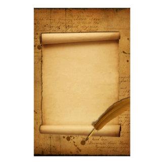 Tinta y canilla del vintage inmóviles papeleria de diseño