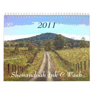 Tinta y lavado 2011 de Shenandoah Calendario
