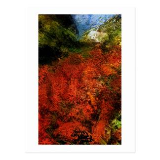Tintagel, Cornwall, Uk as an Oil Painting Postcard