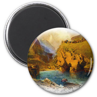 Tintagel, King Arthur's Castle 2 Inch Round Magnet