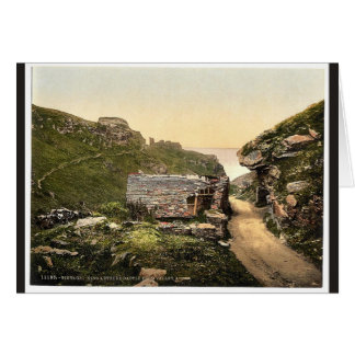 Tintagel, King Arthur's Castle from valley, I, Cor Cards