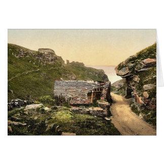 Tintagel, King Arthur's Castle from valley, I, Cor Card