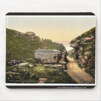 Tintagel, King Arthur's Castle from valley, I, Cor Mouse Pads