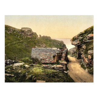 Tintagel, King Arthur's Castle from valley, I, Cor Postcards