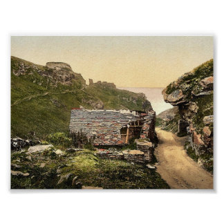 Tintagel, King Arthur's Castle from valley, I, Cor Print