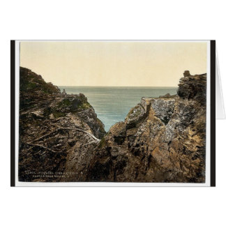 Tintagel, King Arthur's Castle from valley, II, Co Greeting Cards