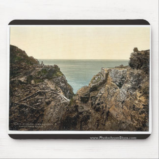 Tintagel, King Arthur's Castle from valley, II, Co Mousepad