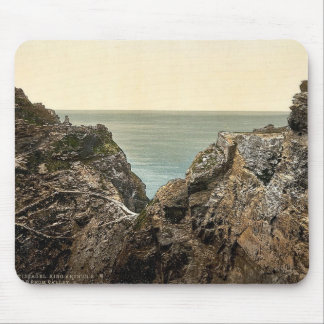 Tintagel, King Arthur's Castle from valley, II, Co Mouse Pads