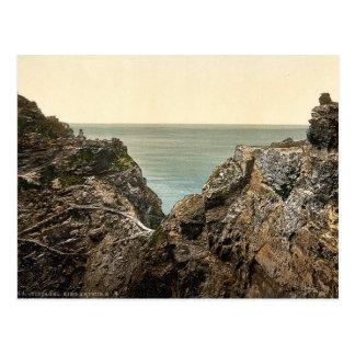 Tintagel, King Arthur's Castle from valley, II, Co Postcard