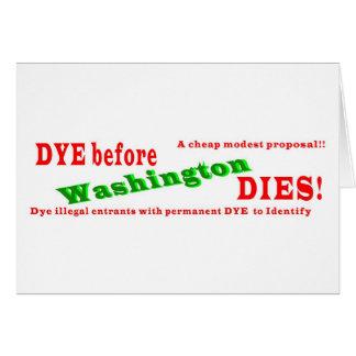 ¡TINTE antes de los DADOS de Washington! Tarjeta