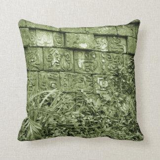 tinte azteca antiguo del verde de la reproducción  cojín