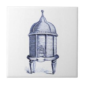 Tinte del azul de la colmena del vintage azulejo cerámica