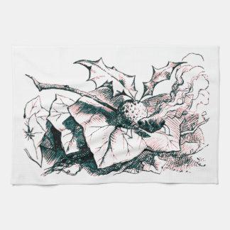Tinte rápido del rosa de la libélula del país de l toalla de mano