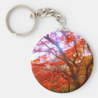 Tinted autumn leaves keychain
