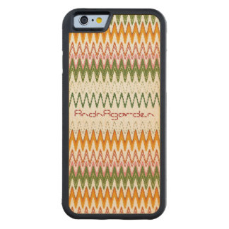 Tinted autumn leaves textile goods pattern iPhone  Carved® Maple iPhone 6 Bumper
