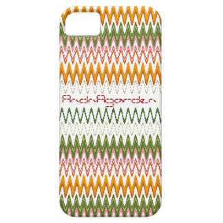 Tinted autumn leaves textile goods pattern iPhone SE/5/5s case
