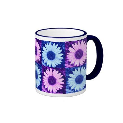 Tinted Blue and Purple Sunflower Mug