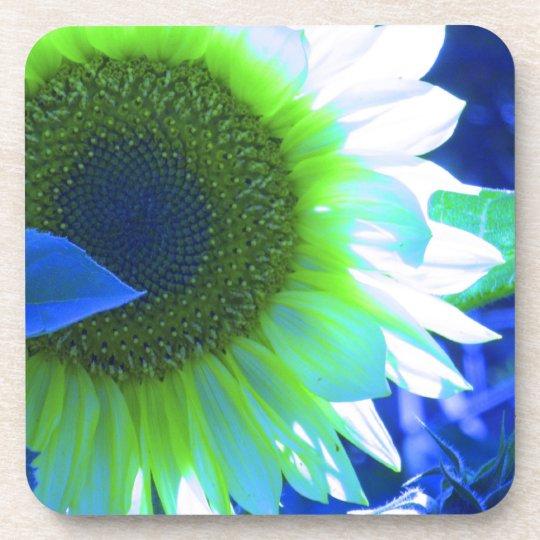 Tinted Blue Sunflower Coaster