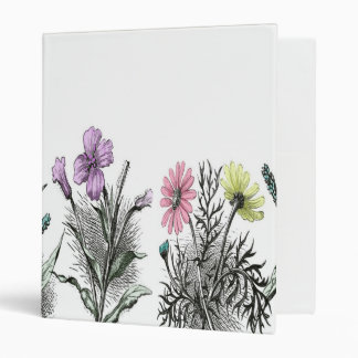 tinted flowers binder