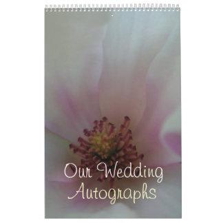 Tinted Heart Wedding Flower Wall Calendar