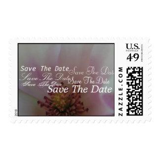 Tinted Heart Wedding Flower Postage Stamp
