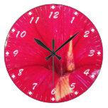 Tinted Red Petunia Clock