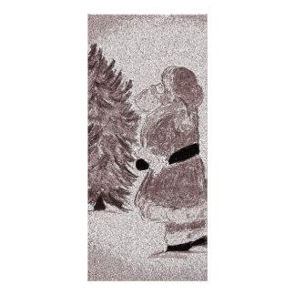 Tinted Santa Claus and Tree Customized Rack Card