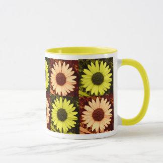 Tinted Yellow and Orange Sunflower Mug