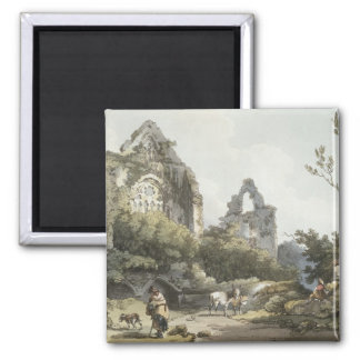 Tintern Abbey, from 'The Romantic and Picturesque 2 Inch Square Magnet