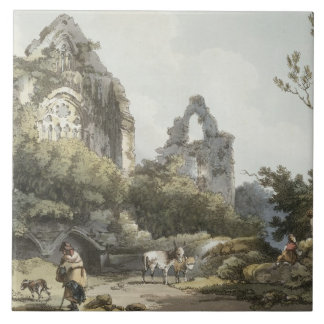 Tintern Abbey, from 'The Romantic and Picturesque Ceramic Tile