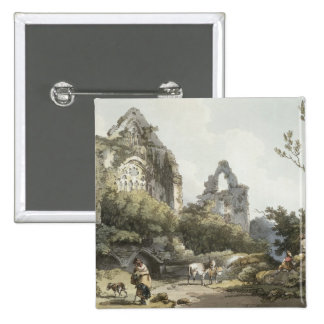 Tintern Abbey, from 'The Romantic and Picturesque Pinback Button
