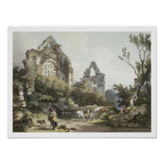 Tintern Abbey, from 'The Romantic and Picturesque Poster