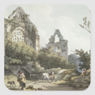 Tintern Abbey, from 'The Romantic and Picturesque Square Sticker