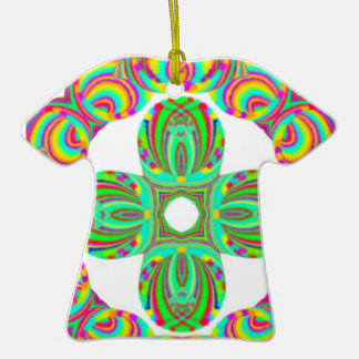 Tintes del modelo del caleidoscopio blancos y ver ornamento para arbol de navidad