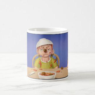 Tintineo del tintineo poca taza de los espaguetis