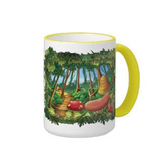 Tintineo del tintineo poca taza enorme del bosque