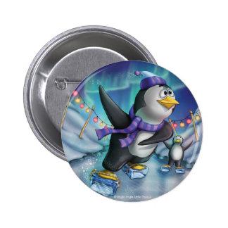 Tintineo del tintineo poco botón del pingüino del pin redondo de 2 pulgadas