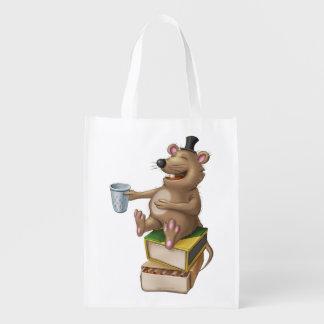 Tintineo del tintineo poco tote de risa del ratón bolsas para la compra
