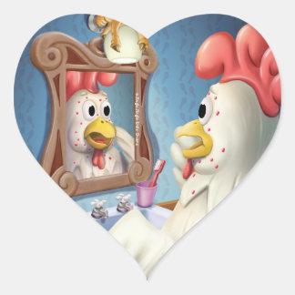 Tintineo del tintineo pocos pegatinas de la pegatina en forma de corazón
