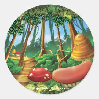 Tintineo del tintineo pocos pegatinas del bosque pegatina redonda