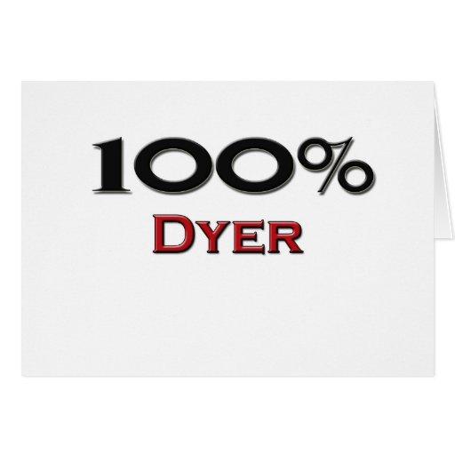 Tintóreo del 100 por ciento tarjeta de felicitación