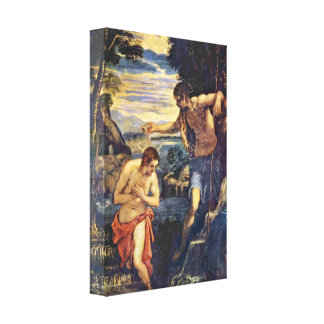 Tintoretto - Baptism of Christ Canvas Print