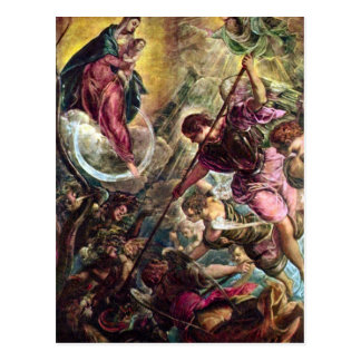 Tintoretto - Battle of the Archangel Michael with Postcard