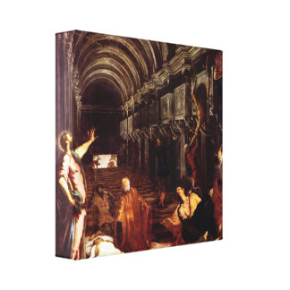 Tintoretto - Discovery of the corpse of St Mark Gallery Wrapped Canvas
