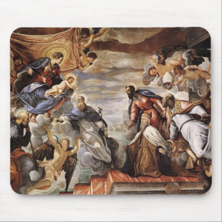 Tintoretto- Doge Invoking Protection of Virgin Mousepads