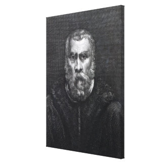Tintoretto, engraved by Delaistre Canvas Print